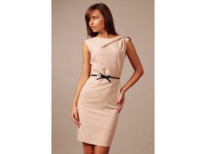 Společenské šaty Amada béžové