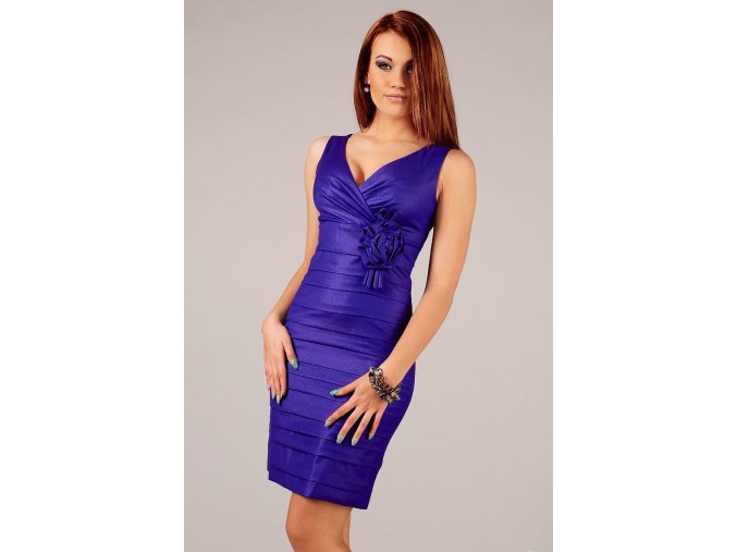 Společenské šaty Felice modré