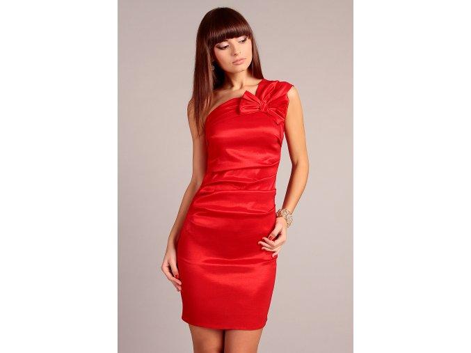 Společenské šaty pro plnoštíhlé Sofia červené