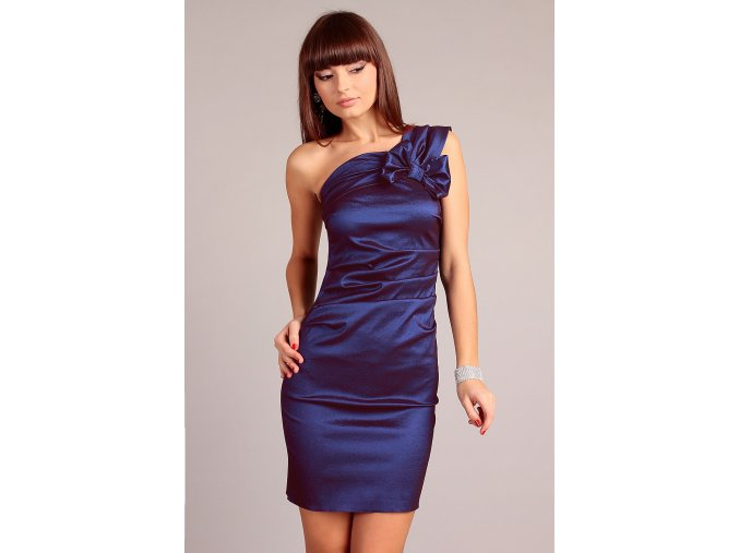 Společenské šaty pro plnoštíhlé Sofia modré