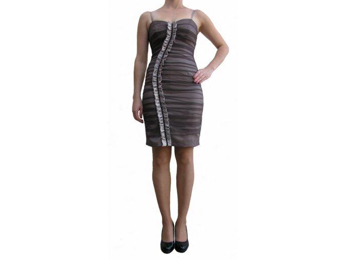 Společenské šaty Joetta hnědo-béžové
