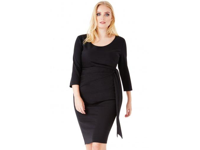 Společenské šaty pro plnoštíhlé Deena černé