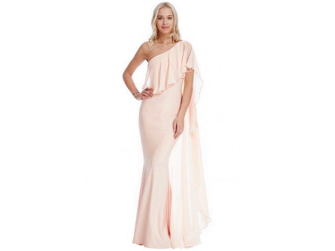 Plesové šaty Cinderella pudrové
