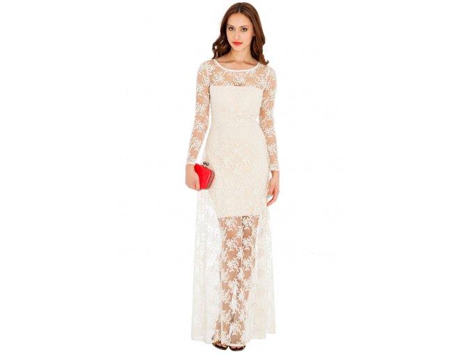 Společenské šaty Chante krémové