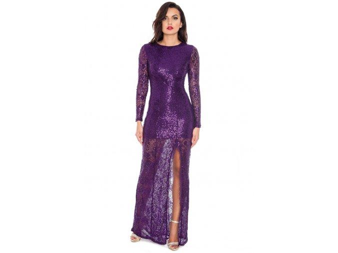 Plesové šaty Sheridan fialové