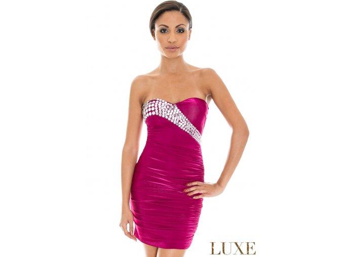 Společenské šaty Berry II fuchsiové