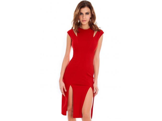 Koktejlové šaty Kirsten červené
