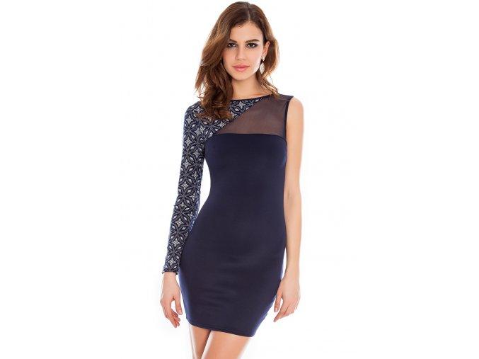 Společenské šaty Ginni tmavě modré