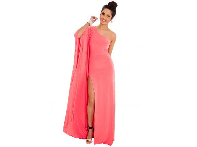 Plesové šaty Leisha lososové