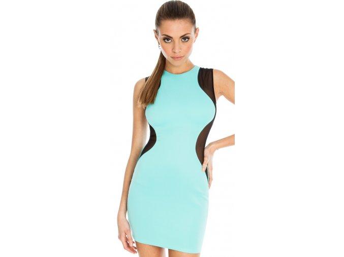 Společenské šaty Mimi azurové