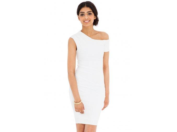 Koktejlové šaty Azzie bílé