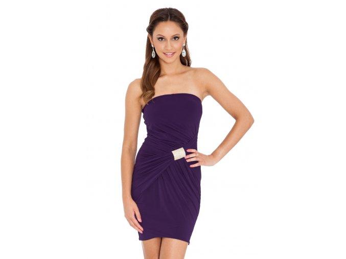 Společenské šaty Shavon fialové