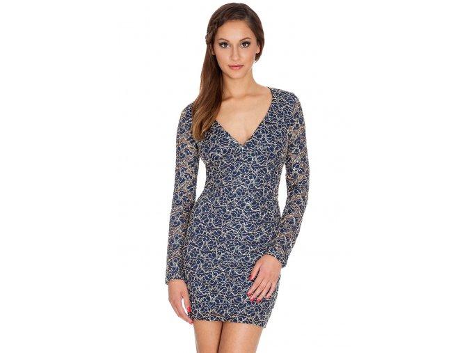 Společenské šaty Royce tmavě modré