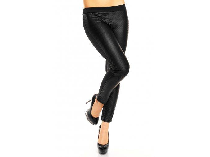 Kalhoty-legíny černé s koženkou II