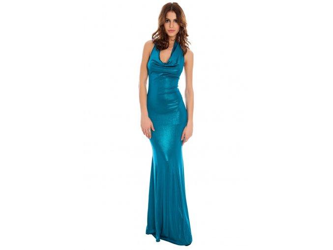 Plesové šaty Christelle modrozelené