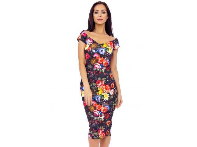 Společenské šaty Fairy s květy