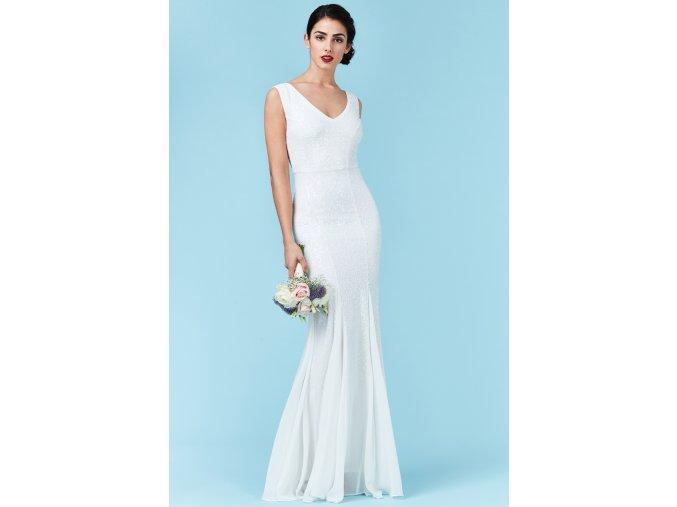Luxusní svatební šaty Petronilla bílé