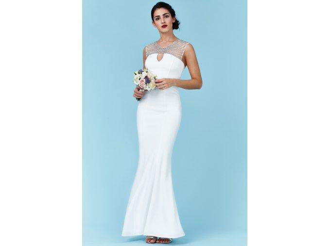 Luxusní svatební šaty pro plnoštíhlé Clementine bílé