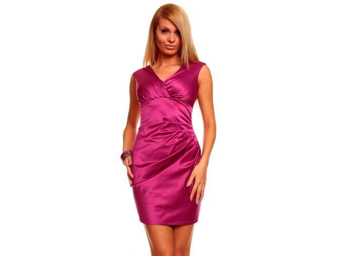 Společenské šaty Valeri fuchsiové
