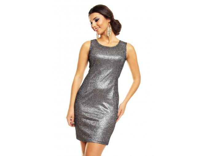 Společenské šaty Shara stříbrné