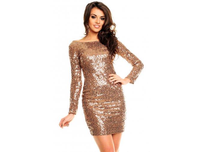 Plesové šaty Starla bronzové