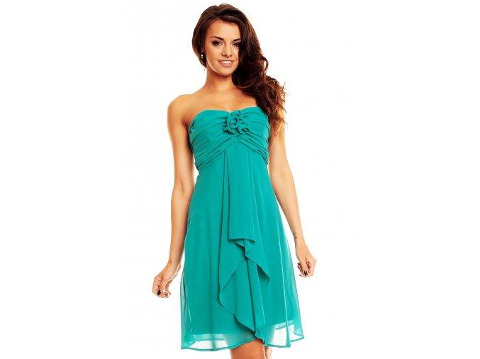 Plesové šaty Virgie modrozelené
