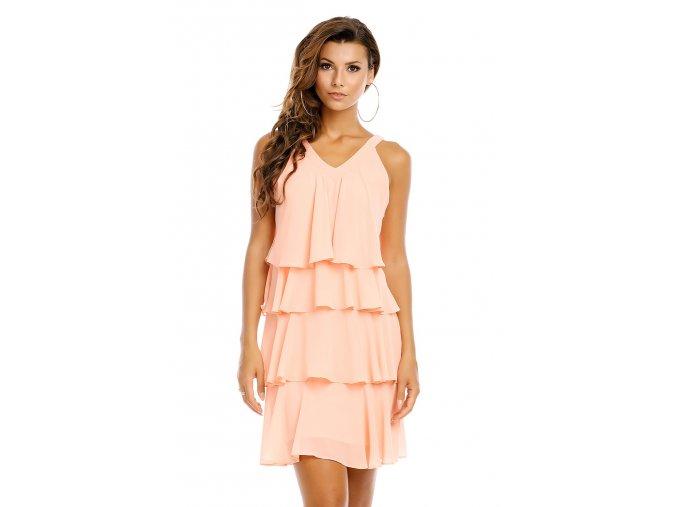Společenské šaty Azalea světle broskvové