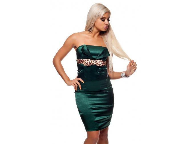 Společenské šaty Tara smaragdově zelené