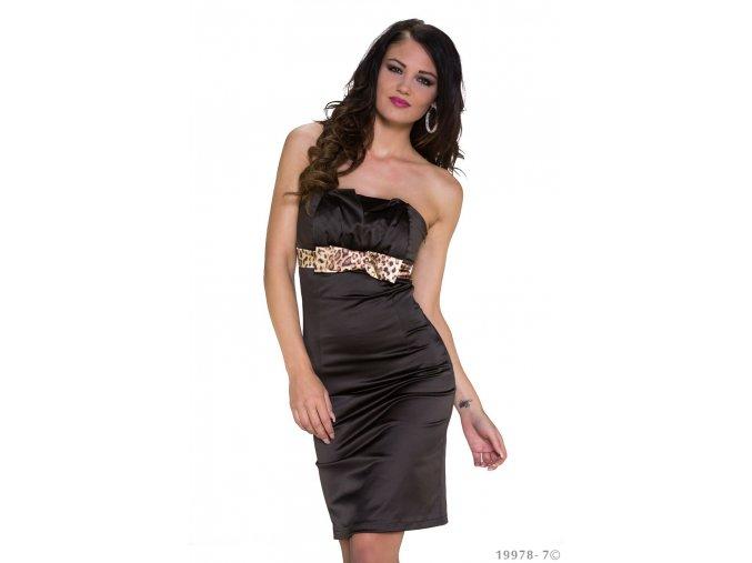 Společenské šaty Tara tmavě hnědé