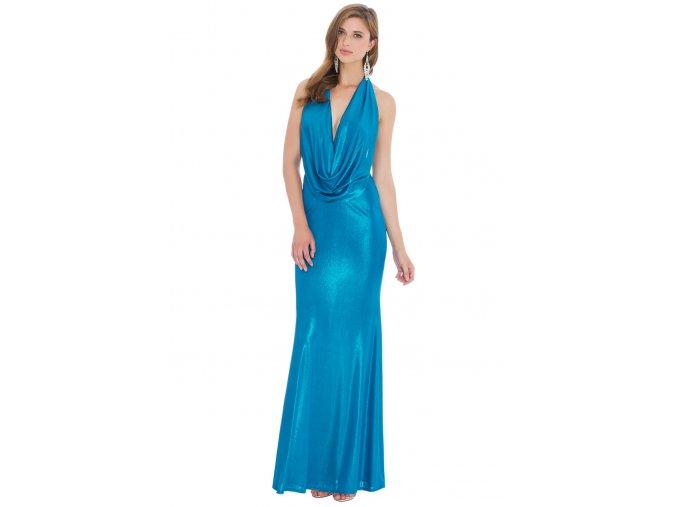 Plesové šaty Tiera modrozelené