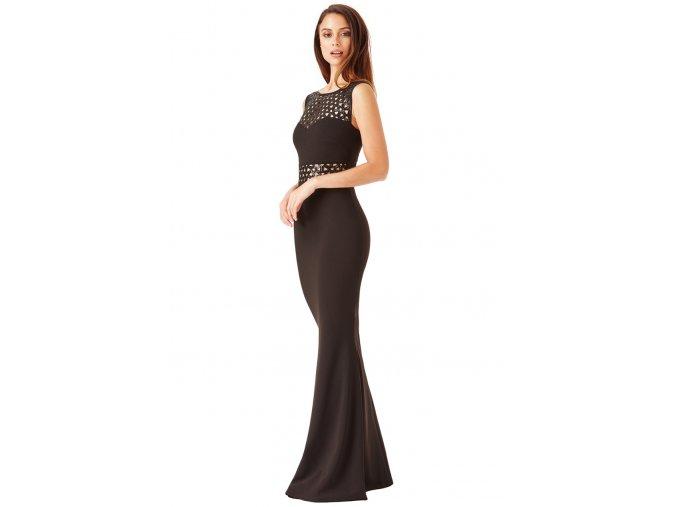 Dlouhé plesové šaty Mindy černé