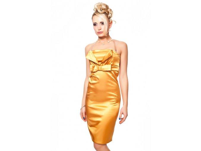 Společenské šaty Tara II zlaté