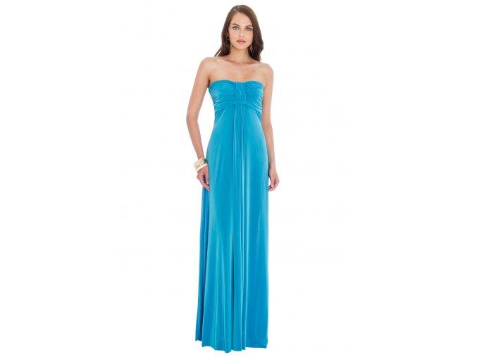 Dlouhé plesové šaty Leontine tyrkysové