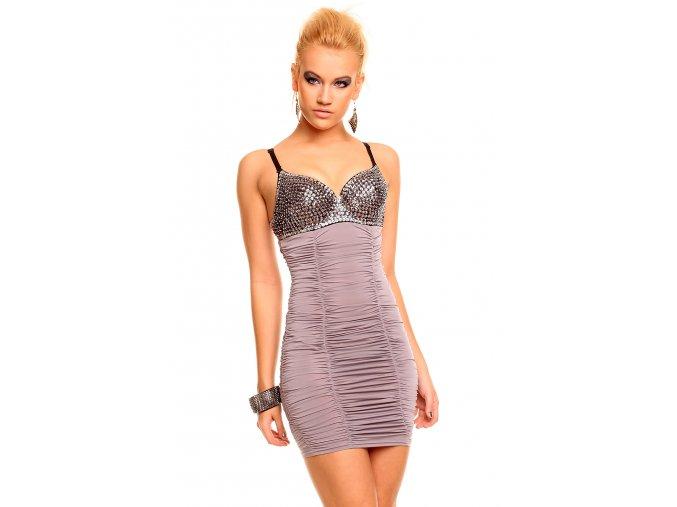 Společenské šaty Miranda II šedé