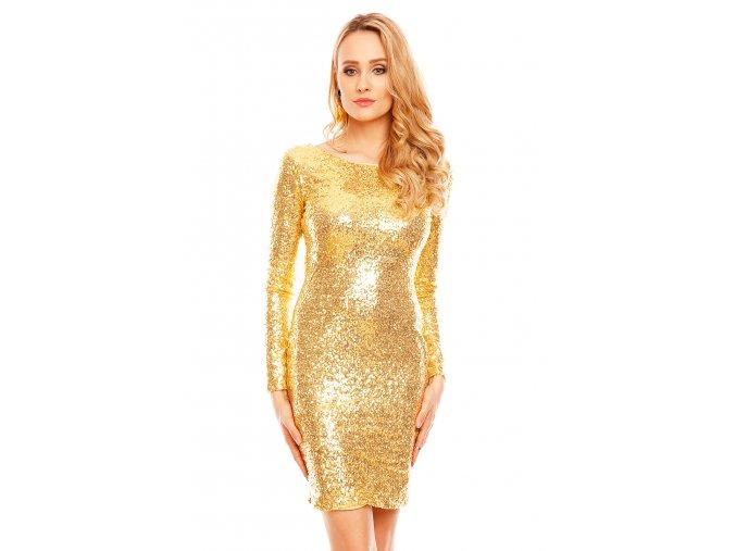 Plesové šaty Starla II zlaté