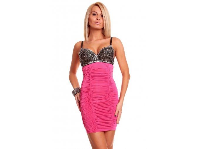 Společenské šaty Miranda II růžové