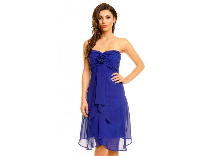 Plesové šaty Virgie královsky modré