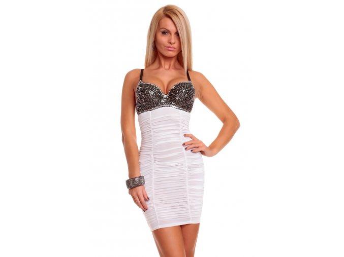 Společenské šaty Miranda II bílé