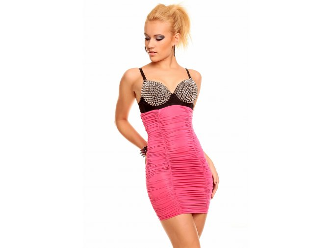 Společenské šaty Miranda III růžové