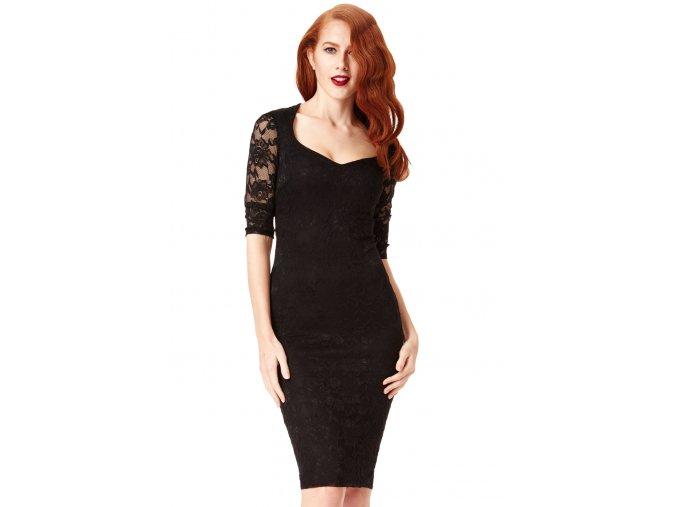 Společenské krajkové šaty Glenda modré