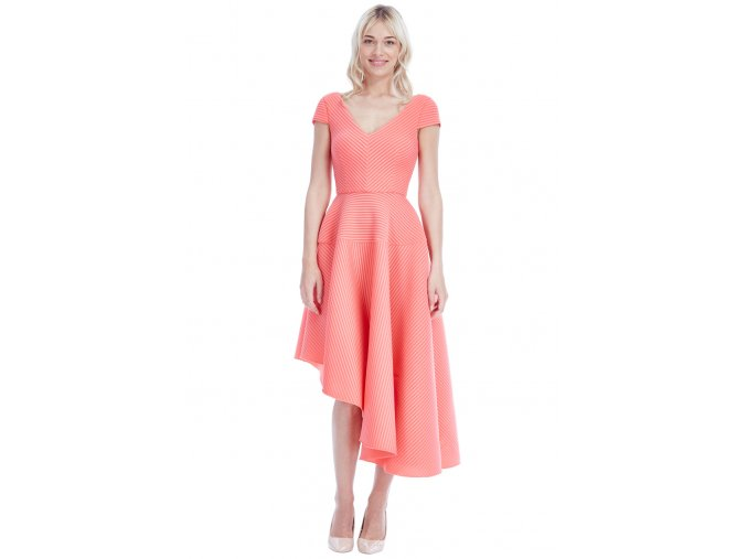 Koktejlové šaty Lorita lososové