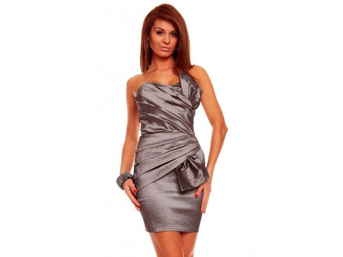 Společenské šaty Natalie tmavě šedé