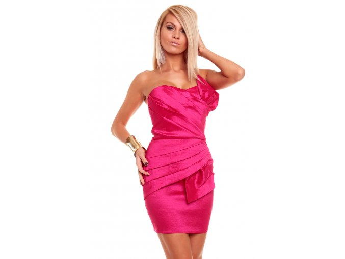 Společenské šaty Natalie růžové