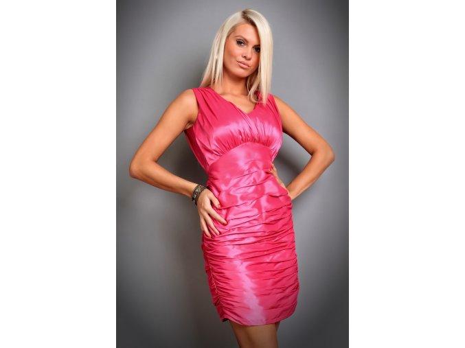 Společenské šaty Stella růžové