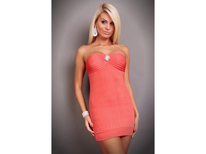 Šaty Stacy lososové