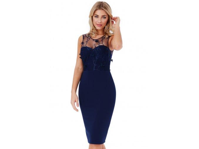 Společenské šaty Nieve II tmavě modré