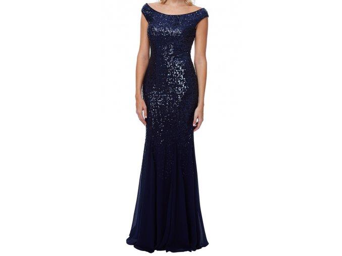 Luxusní společenské šaty Rubina tmavě modré