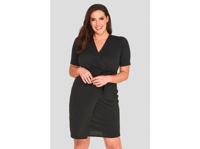 Společenské šaty pro plnoštíhlé Roslyn černé