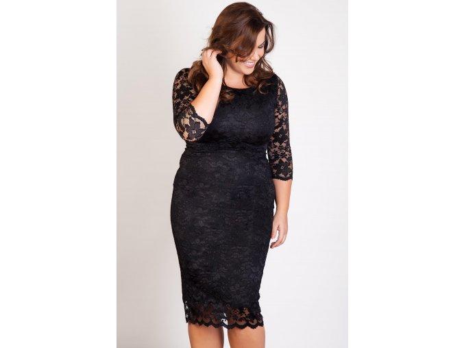 Společenské krajkové šaty Kiara černé