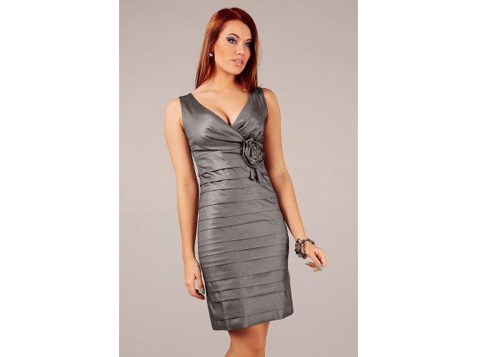 Společenské šaty Felice stříbrné